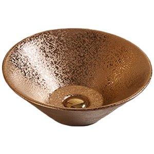 Lavabo-vasque d'American Imaginations, forme ronde, 16,14 po, bronze