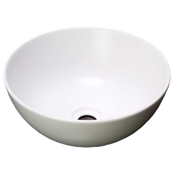 American Imaginations Vessel Bathroom Sink - Round Shape - White
