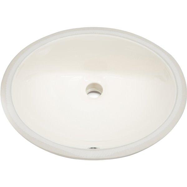Lavabo à encastrer d'American Imaginations, forme ovale, 19,75 po x 15,75 po, beige