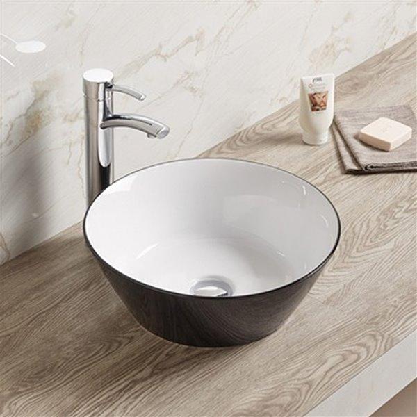 American Imaginations Vessel Bathroom Sink - 15.9-in x 15.9-in - Black