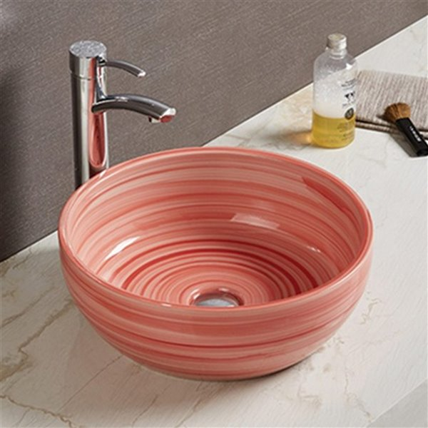 Lavabo-vasque d'American Imaginations, 16,14 po, rouge