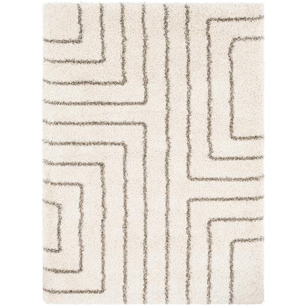 Surya Kodiak Shag Area Rug - 7-ft 10-in x 11-ft 1-in - Rectangular - White