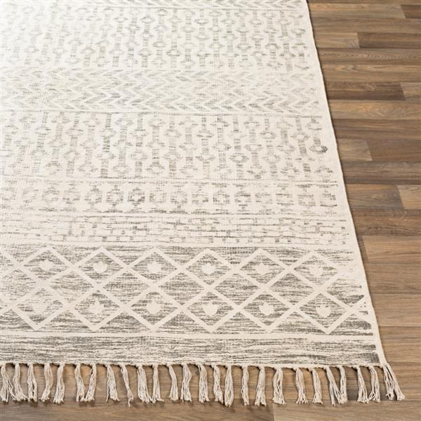 Surya July Bohemian Area Rug - 9-ft x 12-ft - Rectangular - Charcoal