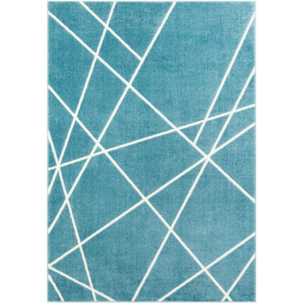 Surya Horizon Modern Area Rug - 9-ft 3-in x 12-ft 6-in - Rectangular - Denim