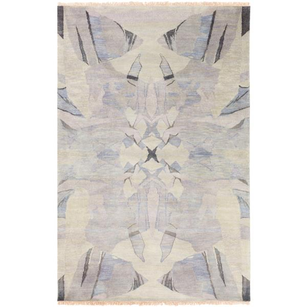 Surya Libra One Modern Area Rug - 2-ft x 3-ft - Rectangular - Cream
