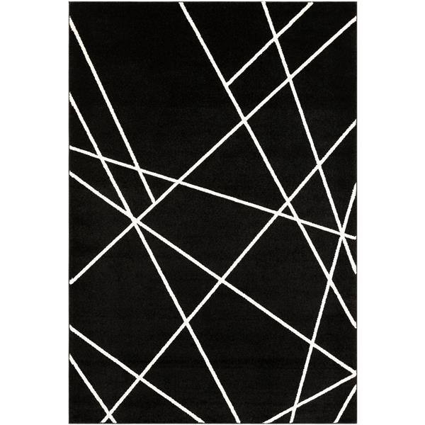 Surya Horizon Modern Area Rug - 6-ft 7-in x 9-ft 6-in - Rectangular - Black