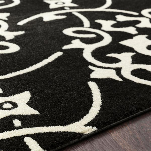 Surya Horizon Transitional Area Rug - 7-ft 10-in - Round - Black