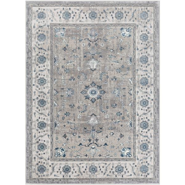 Surya Katmandu Updated Traditional Area Rug - 7-ft 10-in x 10-ft 3-in - Rectangular - Charcoal