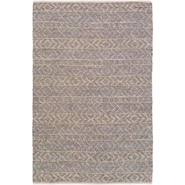 Surya Ingrid Texture Area Rug - 4-ft x 6-ft - Rectangular - Taupe/Navy