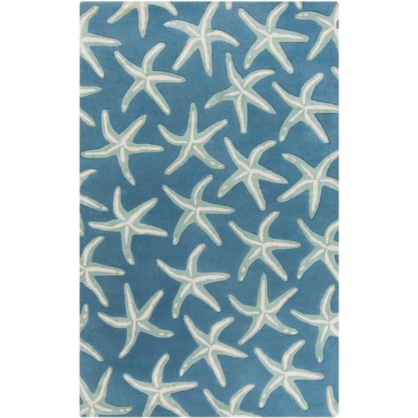 Surya Lighthouse Transitional Area Rug - 3-ft 3-in x 5-ft 3-in - Rectangular - Blue