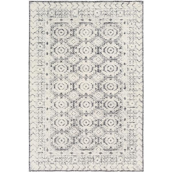 Surya Louvre Transitional Area Rug - 10-ft x 14-ft - Rectangular - Black/White