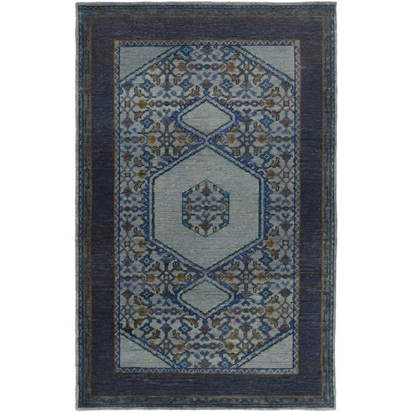 Surya Haven Traditional Area Rug - 3-ft 6-in x 5-ft 6-in - Rectangular - Navy