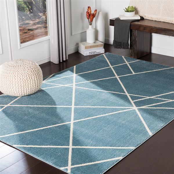 Surya Horizon Modern Area Rug - 7-ft 10-in x 10-ft 3-in - Rectangular - Denim