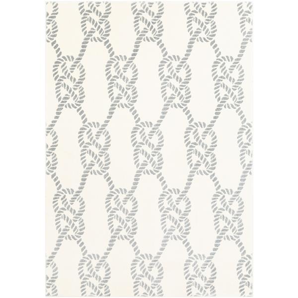 Surya Horizon Transitional Area Rug - 7-ft 10-in x 10-ft 3-in - Rectangular - Cream/Gray