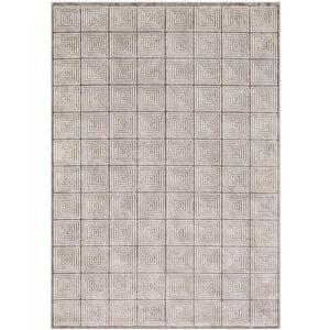 Surya Lagom Modern Area Rug - 3-ft 11-in x 5-ft 7-in - Rectangular - Gray