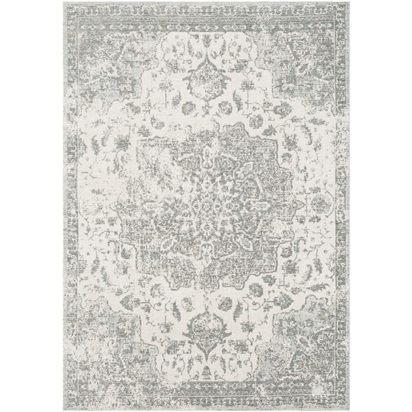 Surya Kilim Updated Traditional Area Rug - 7-ft 10-in x 10-ft 3-in - Rectangular - Charcoal