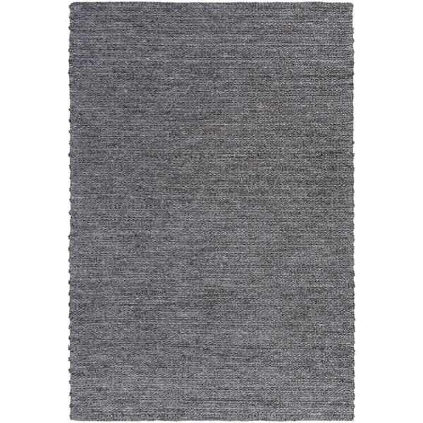 Surya Kindred Texture Area Rug - 6-ft x 9-ft - Rectangular - Charcoal