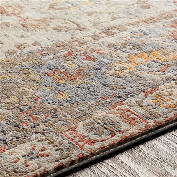 Surya Liverpool Updated Traditional Area Rug - 7-ft 10-in x 10-ft 3-in - Rectangular - Gray