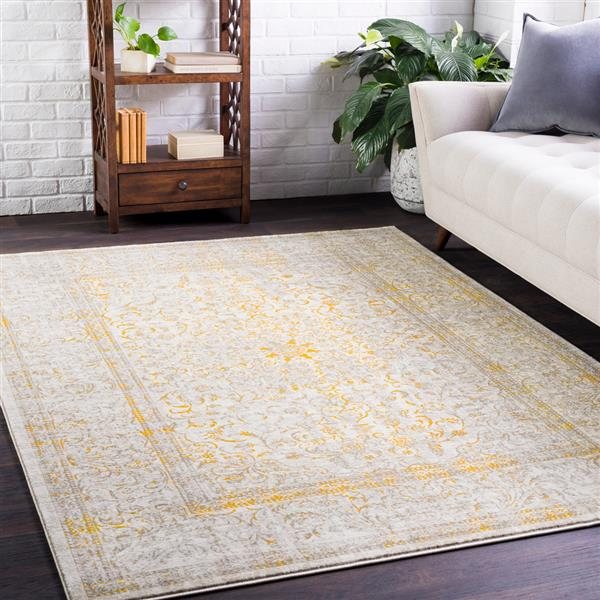 Surya Jax Updated Traditional Area Rug - 7-ft 6-in x 10-ft 6-in - Rectangular - Yellow