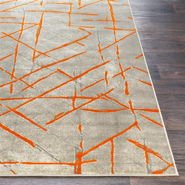 Surya Jax Modern Area Rug - 7-ft 6-in x 10-ft 6-in - Rectangular - Burnt Orange