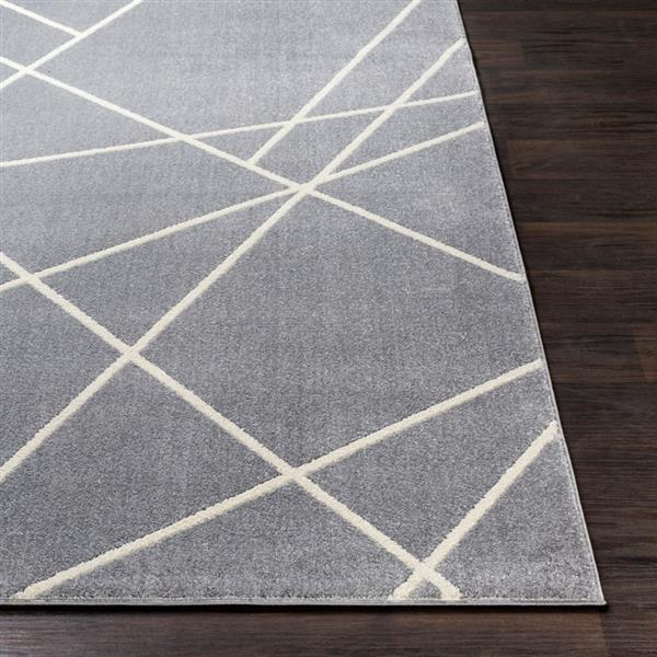 Surya Horizon Modern Area Rug - 7-ft 10-in - Round - Gray