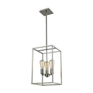 Thomas Lighting Williamsport Chandelier - 3-Light - Brushed Nickel
