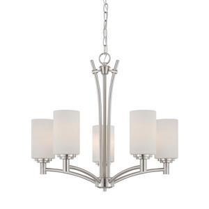 Thomas Lighting Pittman Chandelier - 5-Light - Brushed Nickel