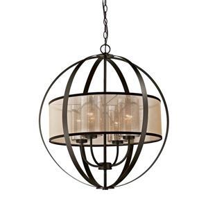 ELK Lighting Diffusion Industrial Chandelier - 4-Light - Oil Rubbed Bronze