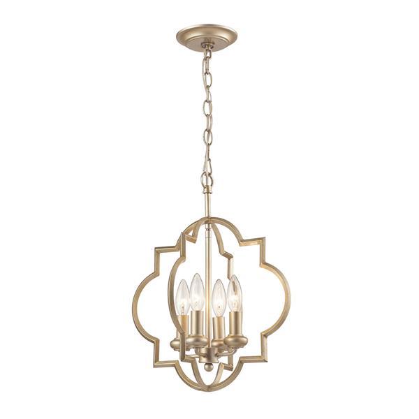 ELK Lighting Chandette Chandelier - 4-Light - Aged Silver