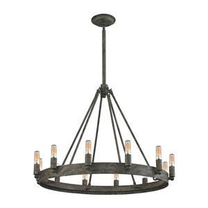 ELK Lighting Lewisburg Chandelier - 12-Light - Oil Rubbed Bronze