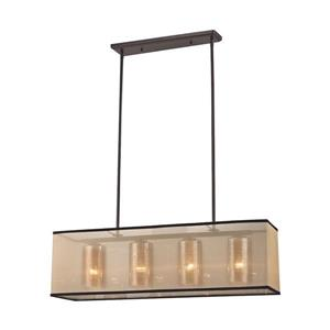 ELK Lighting Diffusion Transitional Chandelier - 4-Light - Oil Rubbed Bronze