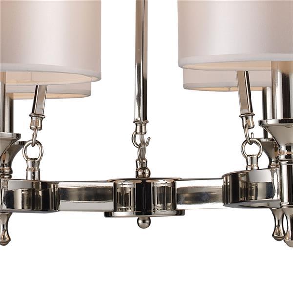 ELK Lighting Pembroke Chandelier - 6-Light - Polished Nickel