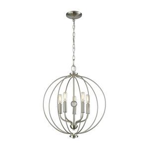 Thomas Lighting Williamsport Chandelier - 5-Light - Brushed Nickel