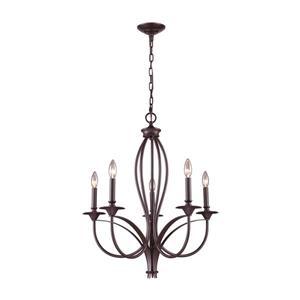 ELK Lighting Medford Chandelier - 5-Light - Oil Rubbed Bronze