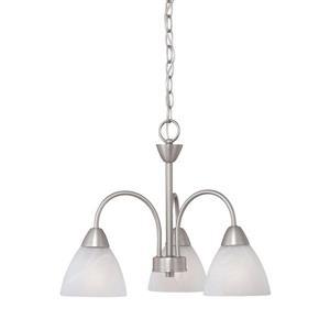 Thomas Lighting Tia Chandelier - 3-Light - Matte Nickel
