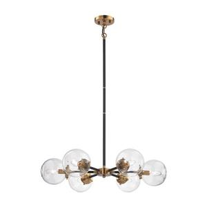 ELK Lighting Boudreaux Chandelier - 6-Light - Antique Gold and Matte Black