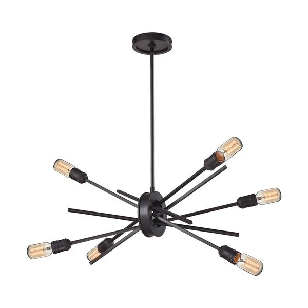 ELK Lighting Xenia Modern Chandelier - 6-Light - Oil Rubbed Bronze
