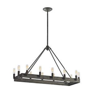 ELK Lighting Lewisburg Chandelier - 14-Light - Malted Rust