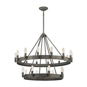 ELK Lighting Lewisburg Chandelier - 22-Light - Malted Rust