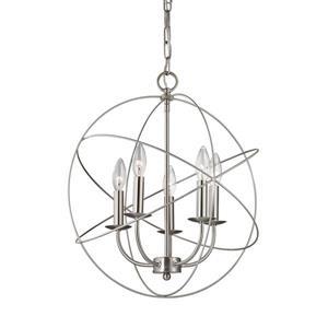 Thomas Lighting Williamsport Modern Chandelier - 5-Light - Brushed Nickel