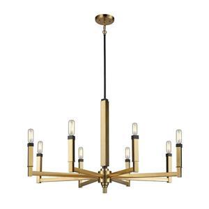 ELK Lighting Mandeville Chandelier - 8-Light  - Oil Rubbed Bronze and Satin Brass