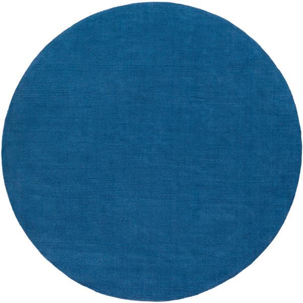 Surya Mystique Solid Area Rug - 9-ft 9-in - Round - Dark Blue