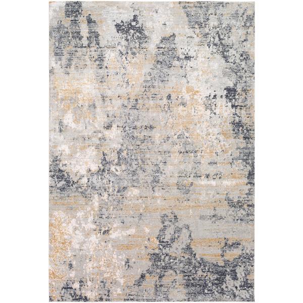 Surya Milano Modern Area Rug - 7-ft 10-in x 10-ft 3-in - Rectangular - Gray