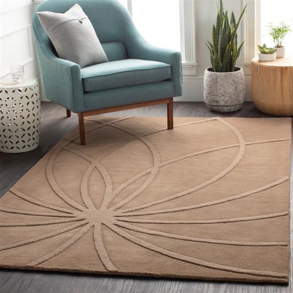 Surya Mystique Solid Area Rug - 3-ft 3-in x 5-ft 3-in - Rectangular - Brown