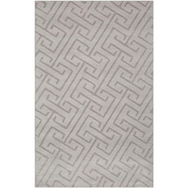 Surya Mystique Solid Area Rug - 8-ft x 11-ft - Rectangular - Gray
