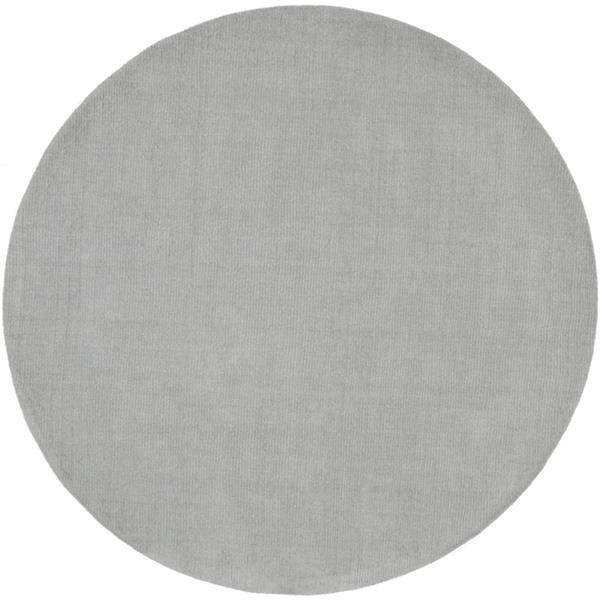 Surya Mystique Solid Area Rug - 8-ft - Round - Medium Gray