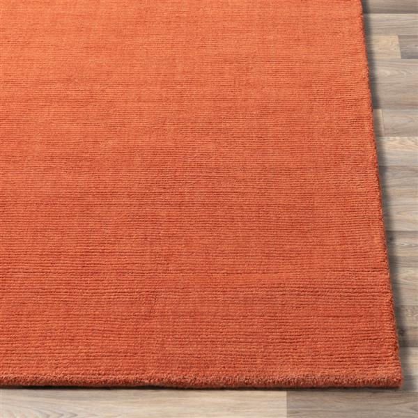 Surya Mystique Solid Area Rug - 7-ft 6-in x 9-ft 6-in - Rectangular - Burnt Orange