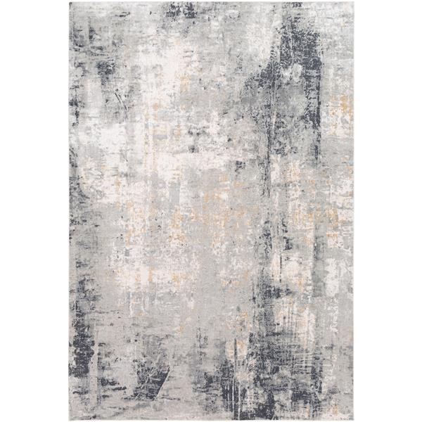 Surya Milano Modern Area Rug - 6-ft 9-in x 9-ft 6-in - Rectangular - Gray