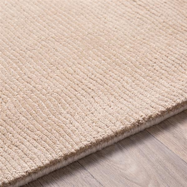 Surya Mystique Solid Area Rug - 7-ft 6-in x 9-ft 6-in - Rectangular - Taupe