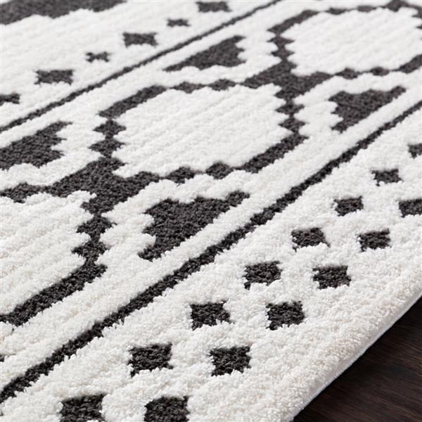 Surya Moroccan Shag Bohemian Area Rug - 7-ft 10-in x 10-ft 3-in - Rectangular - White